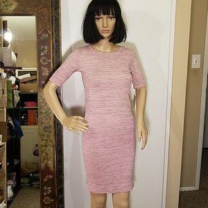"""NWT LulaRoe """"Julia"""" Pink & Gray Dress"""